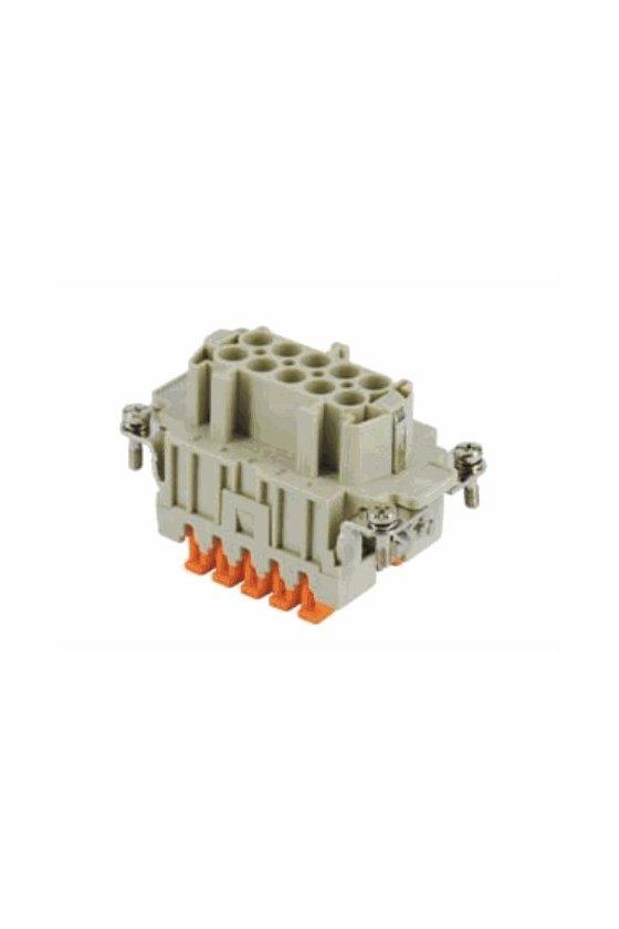 CSHF 10 - Conector hembra 10 Polos 16A 500v sistema SQUICH