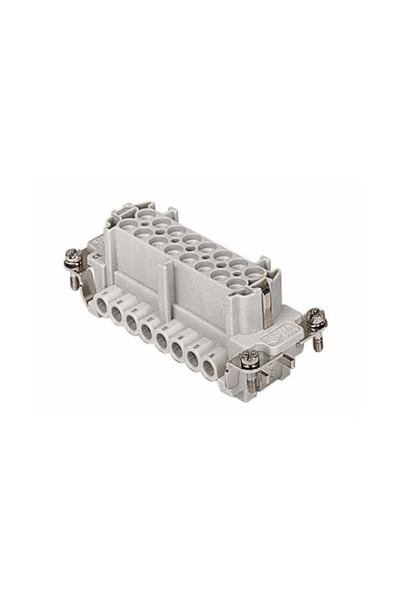 CNEF 16 TN - Bloque Hembra 17/32 16A con placa contactos platedos