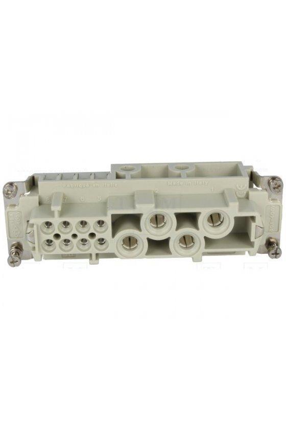 CSHF 06 - Conector hembra 6 Polos 16A, 500V sistema SQUICH