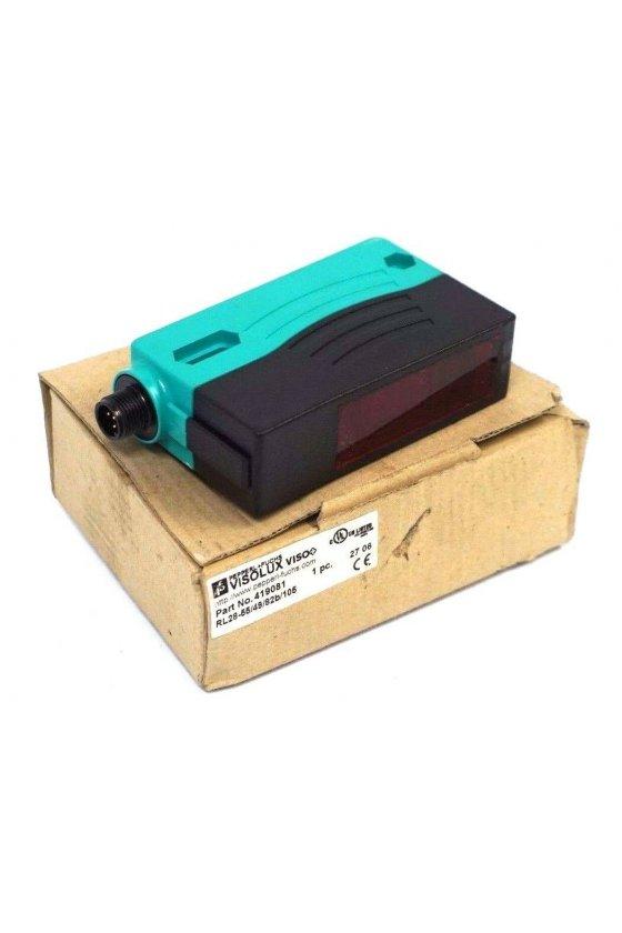 134131 Sensor óptico de reflexión con difusión de fondo RLK28-8-H-400-IR-Z/31/116