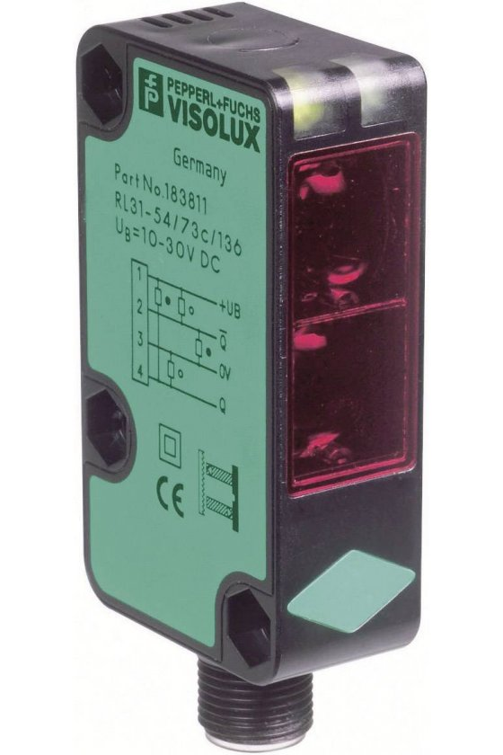 183068 Sensor fotoeléctrico de detección directa RLK31-8-1200-RT-31-115