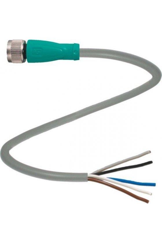 109030 Conector hembra V31-GM-5M-PVC