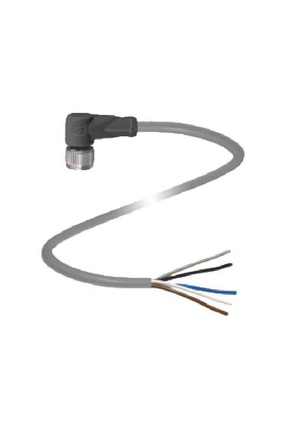 109032 Conector hembra V31-WM-2M-PVC