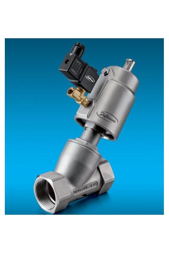 3010IT04-50SS Válvula de accionamiento neumático con asiento inclinado y piloto a solenoide