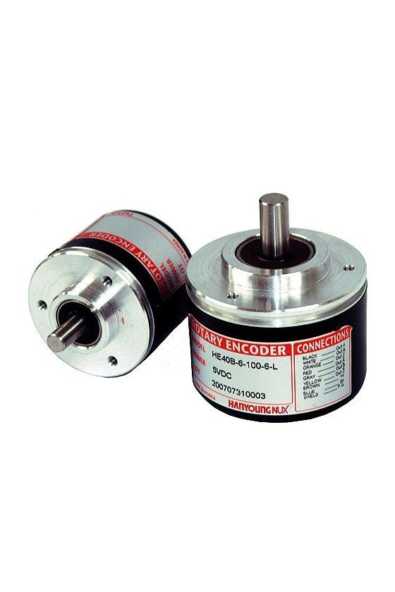 HE50B8603T24 Encoder diam.  Ext. 50mm Flecha 8mm 60ppr  salida A,B,Z Push Pull de 12-24vcd 100ppr