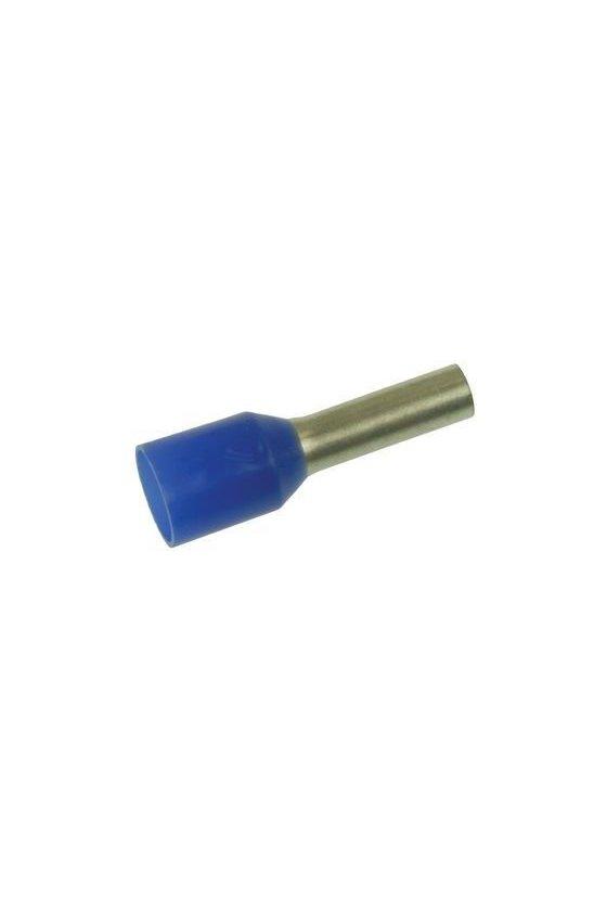 9005900000 Terminales tubulares con aislamiento para conductores de 0,75 mm² H0,75/14T BL BD GSP