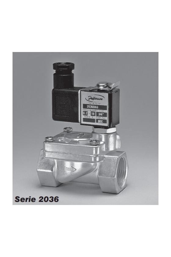 2036BA04T Válvulas a solenoide de 2 vías Uso general 120/60-110/50Hz