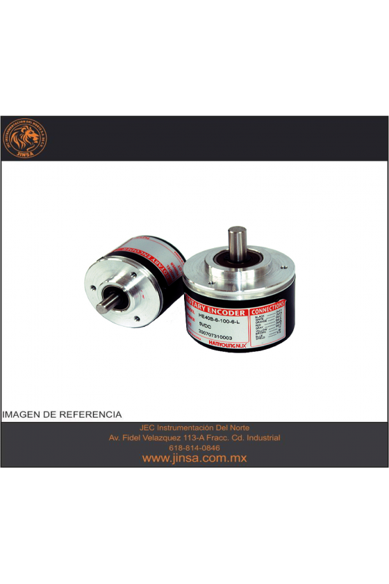 HE50B810006L5 Encoder diam. Ext. 50mm Flecha 8mm  salida A,B,Z Line Driver 5vcd 1000ppr