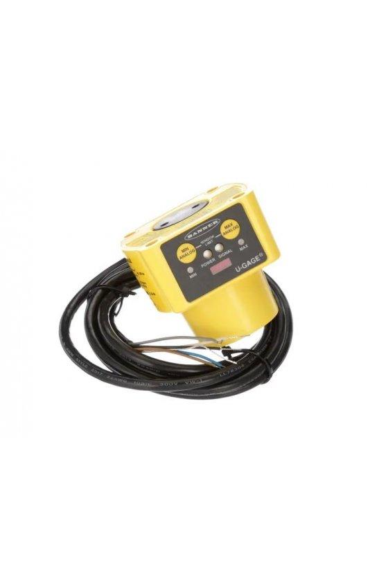 02727 Sensores ultrasónicos de largo alcance serie QT50U QT50ULBQ