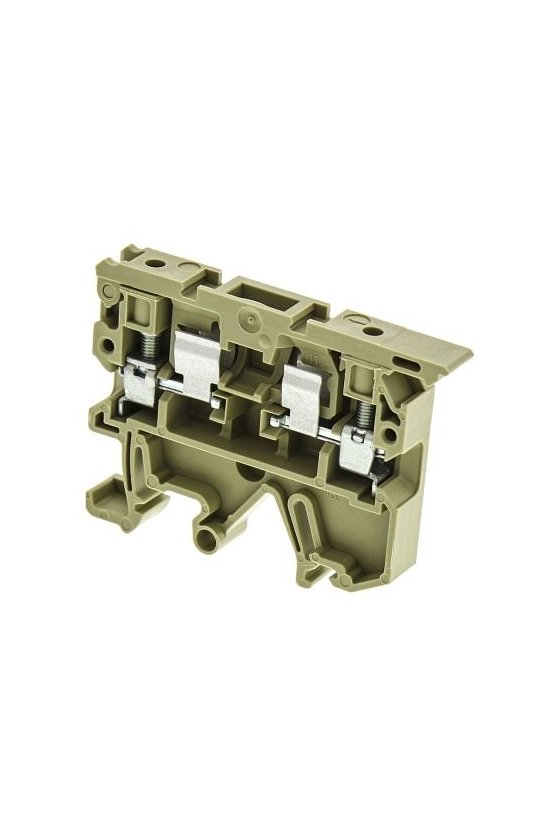 0225660000 Serie SAK Pie de montaje combinado TS 32 / TS 35 EN Bornes portafusibles 1 piso 4 mm² ASK 1/EN LD 120K 230VDC