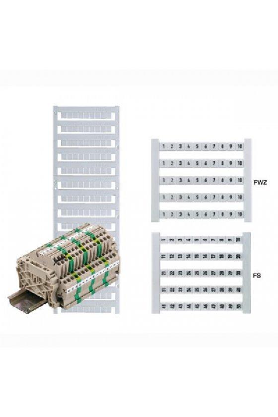 0235960000  Tarjeta Dekafix Dek 5 Impresión estándar horizontal números consecutivos en línea DEK 5 FWZ 21,23,25-39