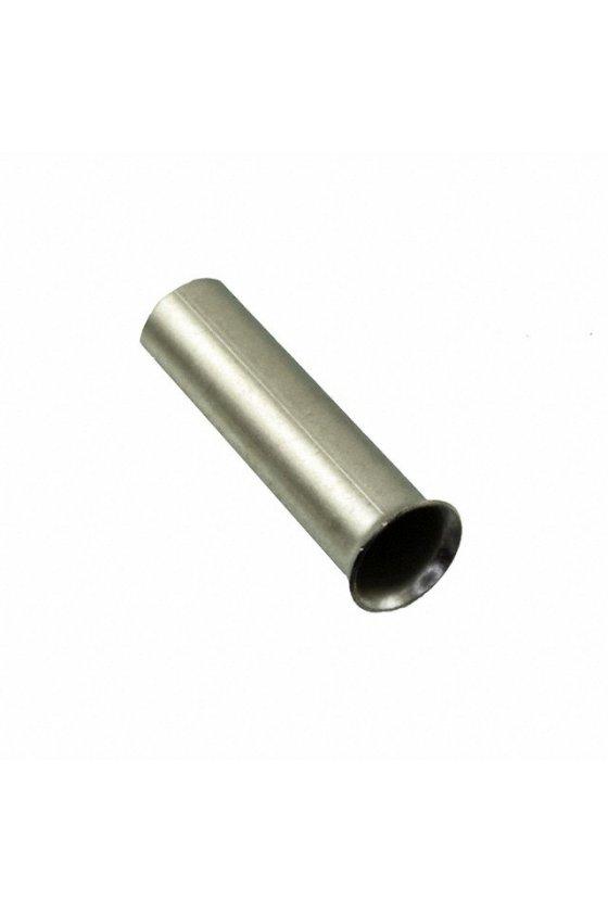 0244100000  Terminales tubulares sin aislamiento Conductor- Sección nominal 0,25 mm² - 6,0 mm² H4,0/12