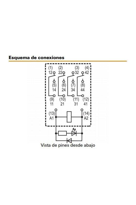 8957170000 RELE 4 CC C/Pulsador 6A  RCM570AC4