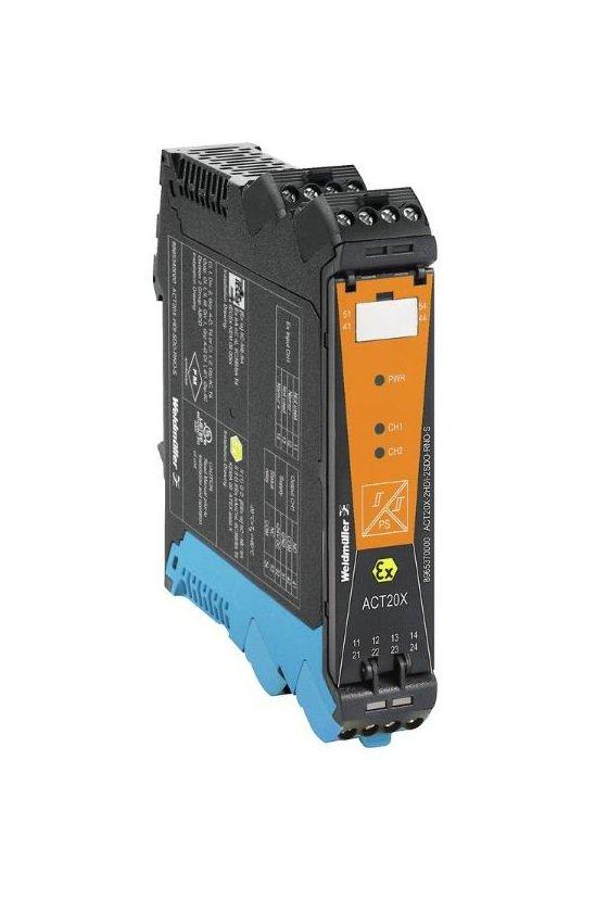 8965410000 Separador/convertidor de señal Ex, Entrada segura: relé, Salida Ex optoacoplador, 1 canal ACT20X-SDI-HDO-H-S