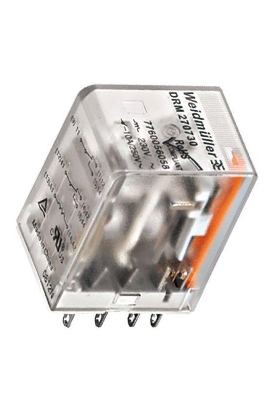 7760056060  DRM Relé 2 contactos conmutados con LED DRM270024L