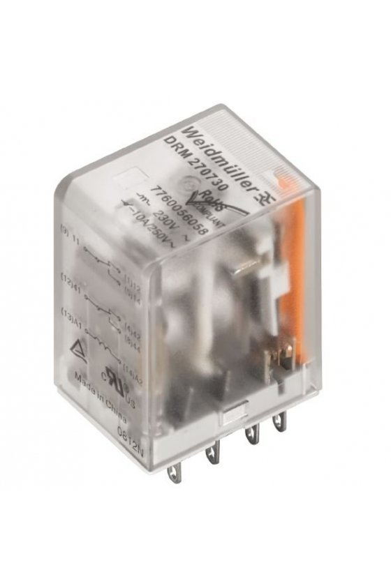 7760056187  DRM Relé 4 contactos conmutados / contactos dorado con LED DRM570024L AU