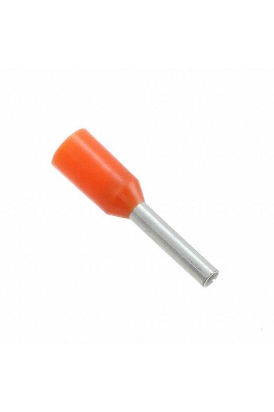 0409500000 Terminales tubulares con aislamiento para conductores de 0,5 mm²  En bolsa H0,5/12 OR