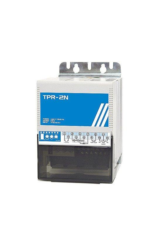 TPR3SL040L Regulador electronico 3 fase 100-240 vca 40Amp input 4-20mA, 1-5v, potenciometro, ON-OFF 2 alarmas