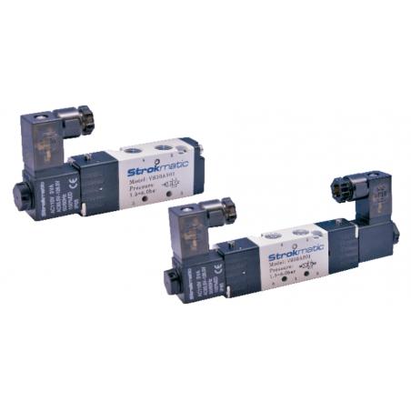 """VS50B301-AP Valvula 5 vías 3 posiciones doble solenoide centro cerrado puerto 1/8"""" 220VAC"""