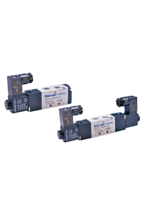 """VS50B301-EP Valvula 5 vías 3 posiciones centro cerrado puerto 1/8"""" 24VAC"""
