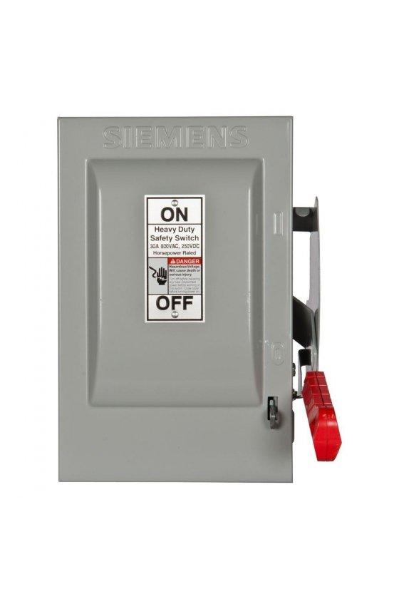 35589 Interruptores de seguridad de baja tensión Siemens para protección de circuitos de servicio pesado HNF361