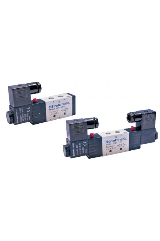 """VS51A202-BP Valvula 5 vías 2 posiciones doble solenoide puerto 1/4"""" 24 VCD"""