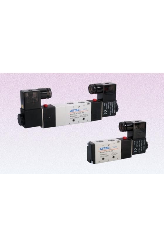 """4V230E-08-AP Electroválvula 5 vías 3 posiciones puerto 1/4"""" 220 VCA"""