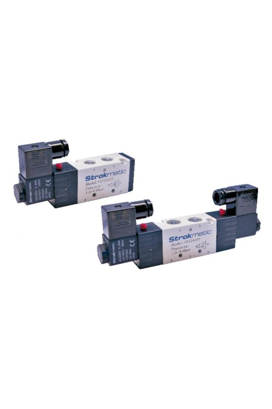 """VS52A102-BP Valvula 5 vías 2 posiciones solenoide simple puerto 1/4"""" 24 VCD"""