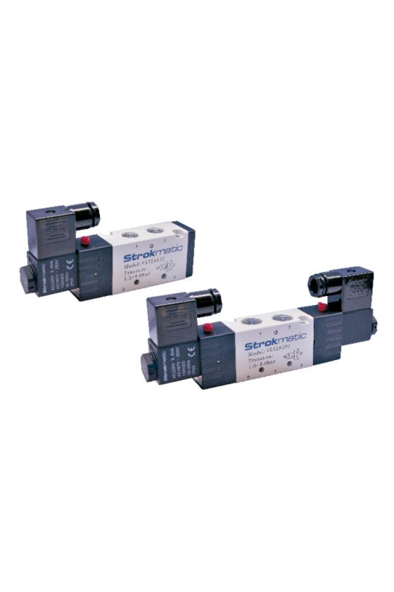 """VS52B302-CP Valvula 5 vías 3 posiciones centro cerrado puerto 1/4"""" 110VAC"""