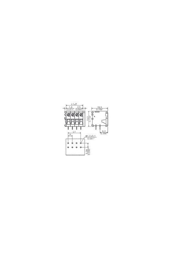 0642160000 Conexión brida-tornillo TOP con efecto PULL  2.5 mm² (AWG 14) - Pitch 5.08 mm  TOP1.5GS4/90 5 2STI OR