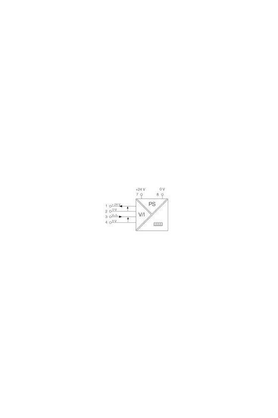 7940011570 Displays Tensión CC Fuente de alimentación externa DI350 0-10V/0-100.0