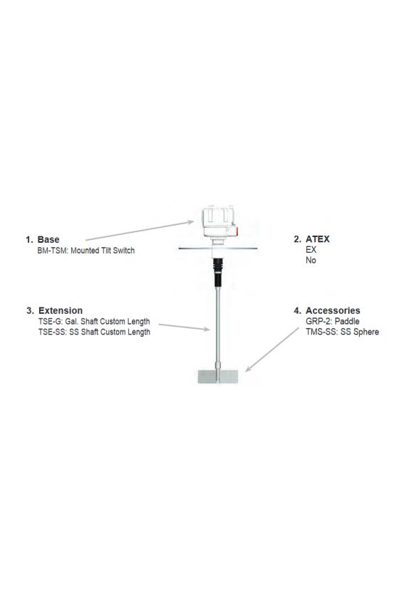 416-0686 Switch de flotador para sensor de inclinación TMS-SS