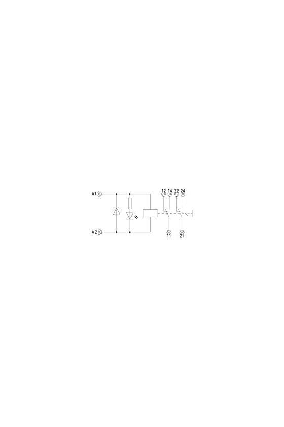 8881610000 2 contactos conmutados de 16mm y 27mm de ancho RCI de 16 mm de ancho Conexión por tornillo RCIKIT 24VDC 2CO LD/PB
