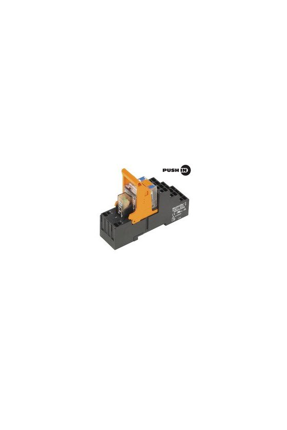 8897230000 2 contactos conmutados de 16mm y 27mm de ancho RCI de 16 mm de ancho Conexión PUSH-IN RCIKITP 24VDC 2CO LD/PB