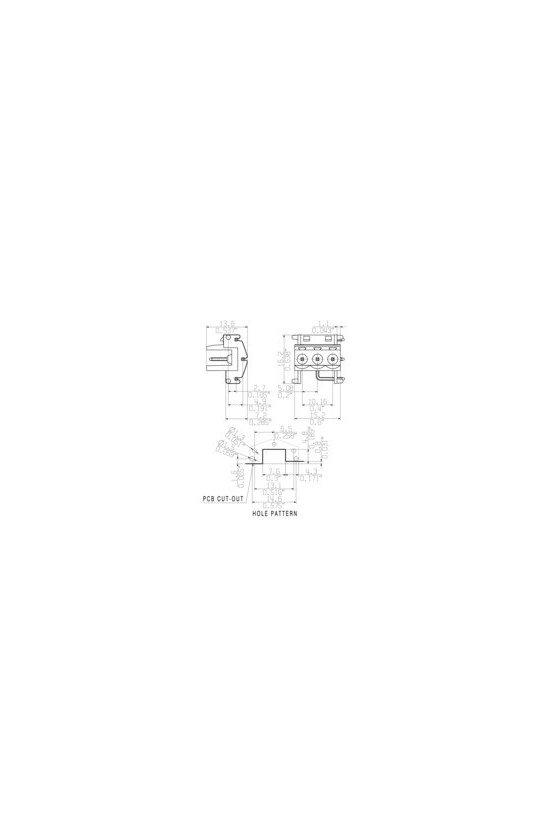 8426630000 Conectores macho con conexión por soldadura SLEH 5.08 SLEH 5.08/3 LI22.5 2.4 SN OR BX