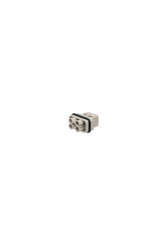 1003170000 Serie HQ - Conectores pequeños y potentes Conexión crimpada grupo HQ de 4/2 polos HDC HQ 4/2 MC