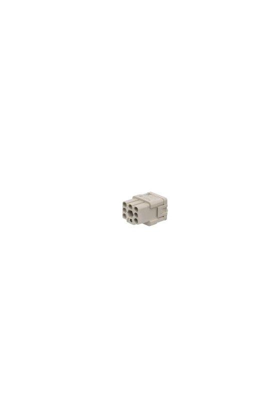 1003180000 Serie HQ - Conectores pequeños y potentes Conexión crimpada Grupo 1 7 polos HDC HQ 7 FC