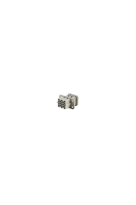 1003200000 Serie HQ - Conectores pequeños y potentes Conexión crimpada grupo HQ 17 polos HDC HQ 17 FC