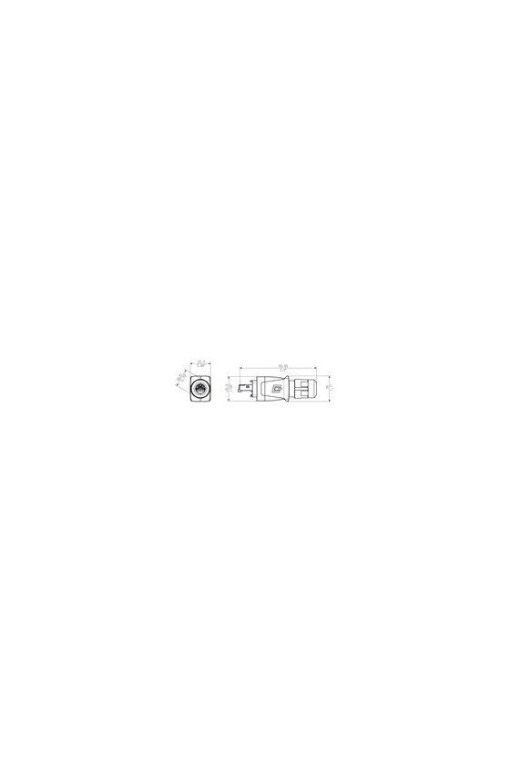 1012170000 Conector IP67 V14 PushPull Kits RJ45 IE-PS-V14M-RJ45-FH-P