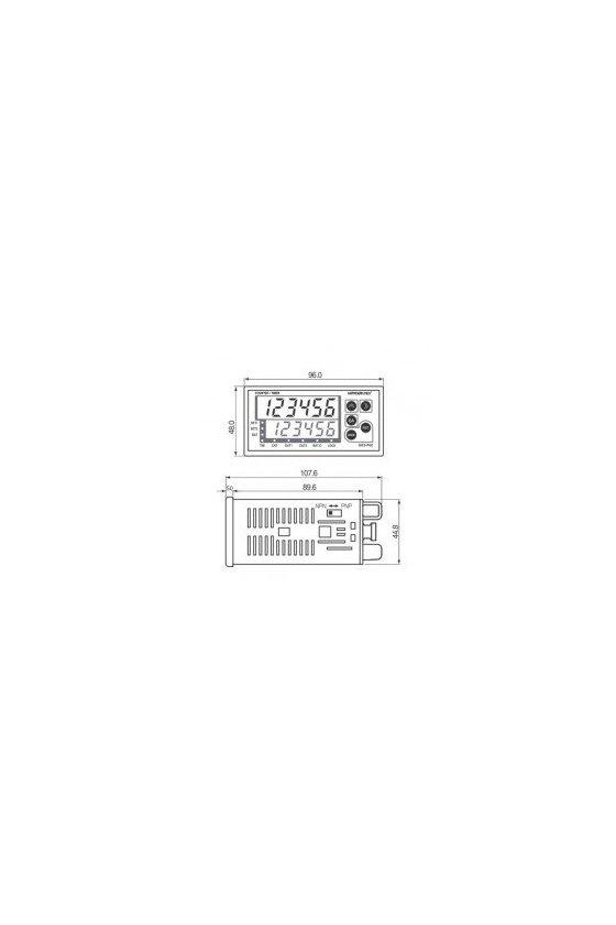 Contador / temporizador HANYOUNG NUX, 100-240 VCA GE6-P61A