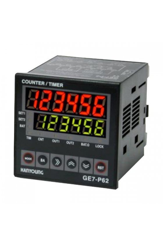Contador temporizador 6 dig aliment 100-240 VCA GE7-P62A