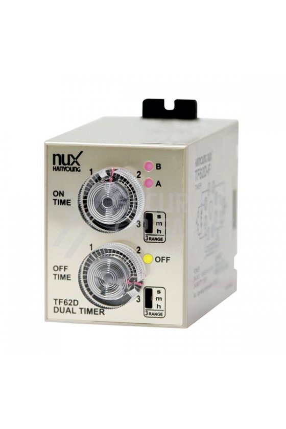 Temporizador analogo doble (58 X 84 mm) TF62DE-01F