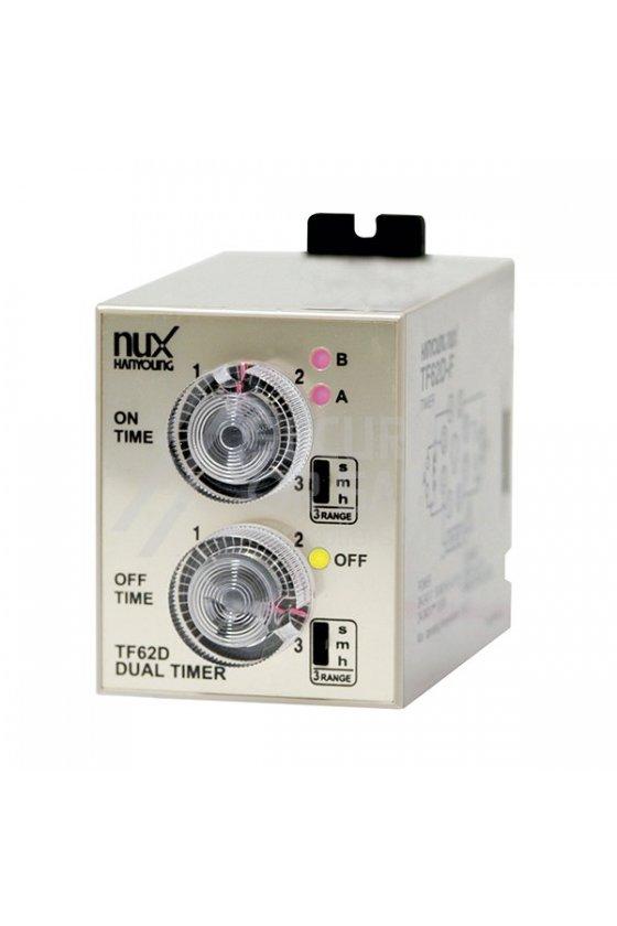 Temporizador análogo de doble tiempo TF62DP-01F