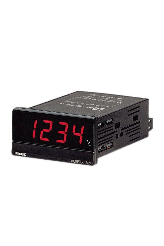 Panelmeter digital Solo para indicación Voltímetro DC (DC) BS3-ND104