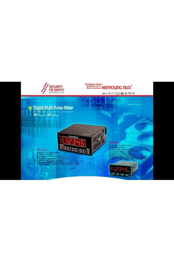Medidor de pulso múltiple 100 - 240 a.c 50 - 60 ㎐ solo display RP4-5AN