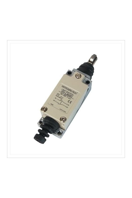 Mini Limit Switch con embolo de rodillo cruzado contacto 1NA+1NC 6amp