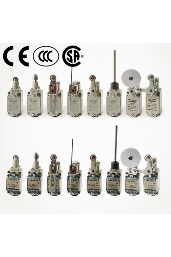 Mini Limit Switch con embolo de rodillo cruzado contacto 1NA+1NC 6amp