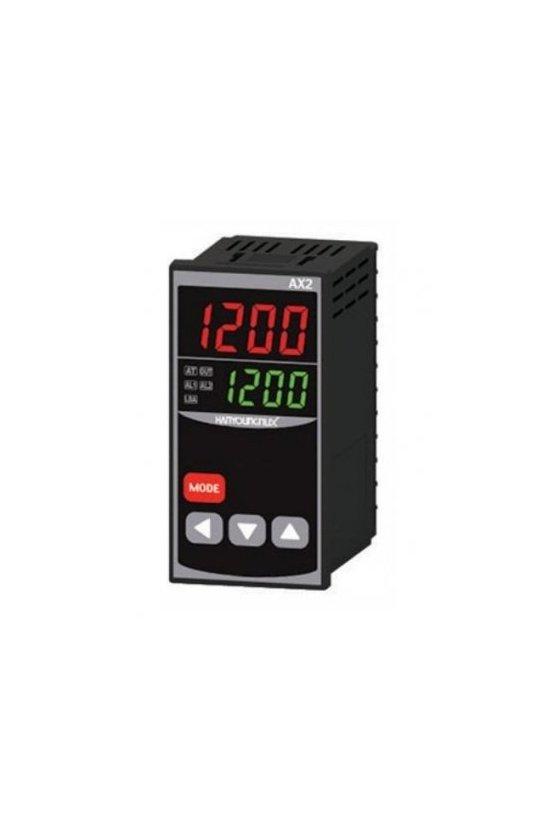 Control de temperatura digital 1/8 Din  48x96mm  entrada  J, K, pt100 , salida SSR + Rele AX2-1A