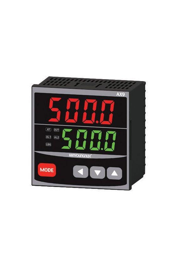 Control de temperatura digital 1/8 Din  48x96mm  entrada  J, K, pt100 , salida SSR + Rele AX2-2A