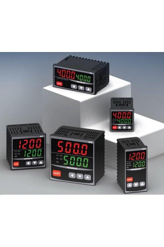 Control de temperatura digital 1/8 Din  48x96mm entrada  J, K, pt100 , salida  4-20mA AX2-4A